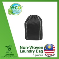Non-Woven Laundry Bag [ B0340 ] [ 5pcs Mixed Color ]