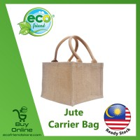 Jute Colourful Mini Carrier Bag (B0229)