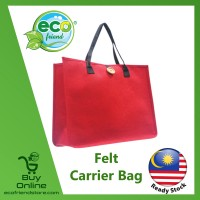 Felt Carrier Bag With Button (B0211-RE)