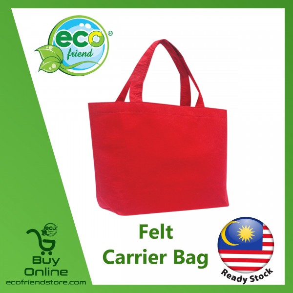 Felt Carrier Bag (Red) (B0126-RE)
