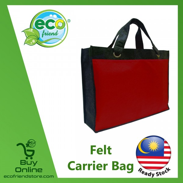 Felt Carrier Bag With Eye-Lid (Red) (B0190-RE)