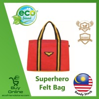 Superhero Felt Tote Bag (Wonder Woman) (ESH002-WW)