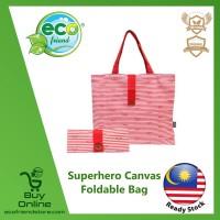 Superhero Canvas Foldable Tote Bag (Wonder Woman) (ESH008-WW)
