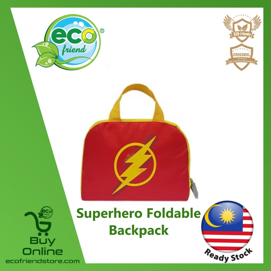 Superhero Foldable Backpack (Flash) (ESH013-FL)