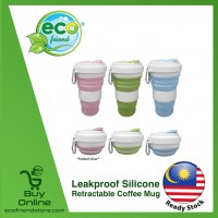 Leakproof Silicone Retractable Coffee Mug [ LD0106 ]